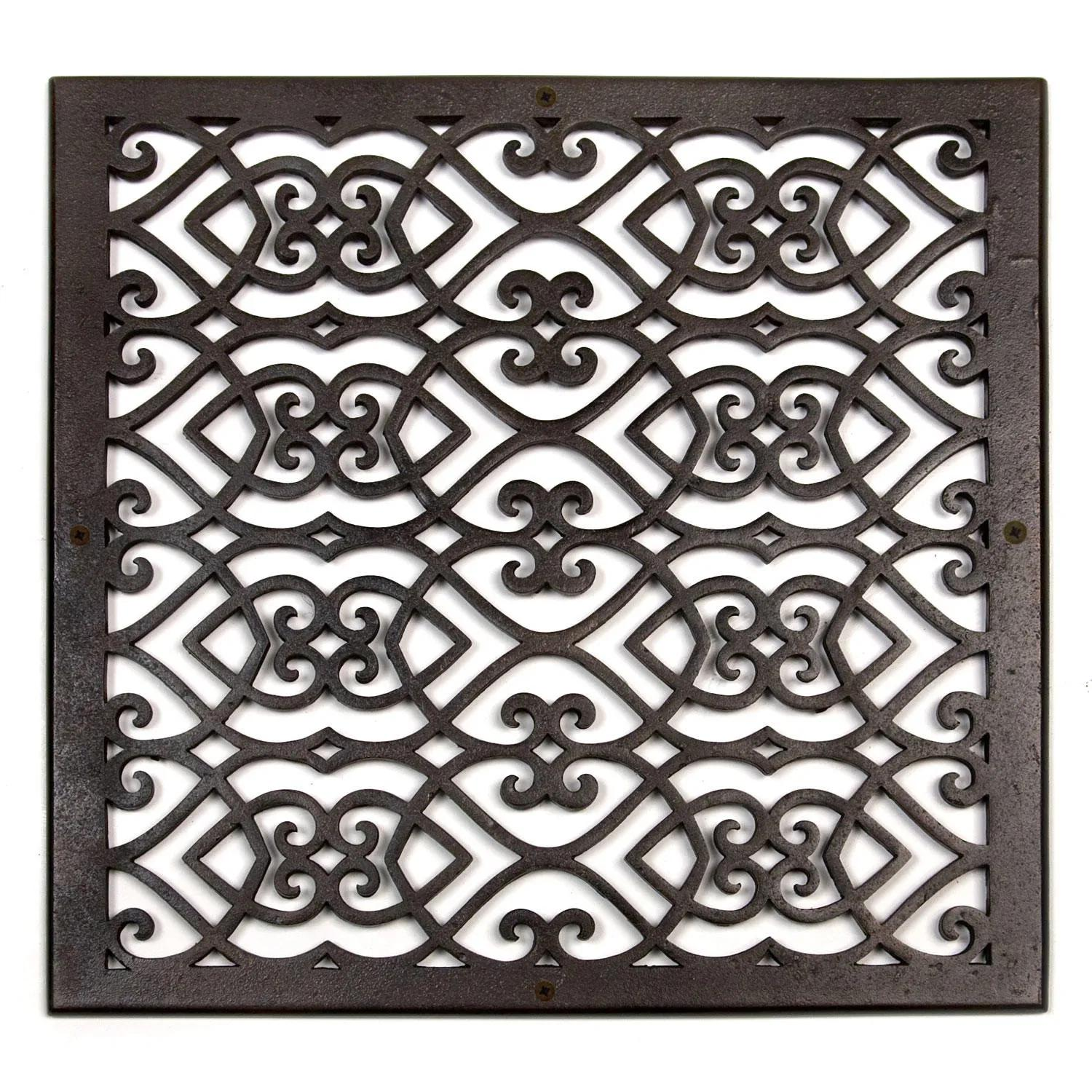 Oversized Victorian Bronze Wall Air Return Hardware