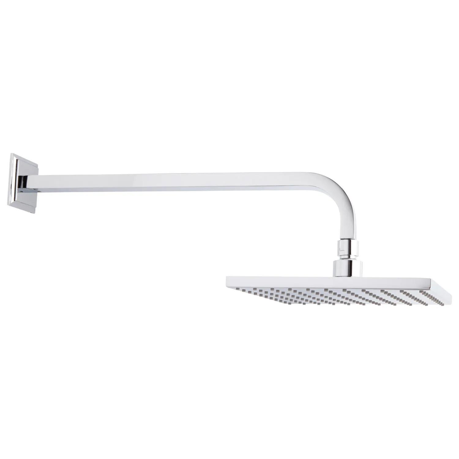"""WELS Square 8//10//12/"""" Rain Shower Head Wall Arm Set Hand Held Twin Shower System"""