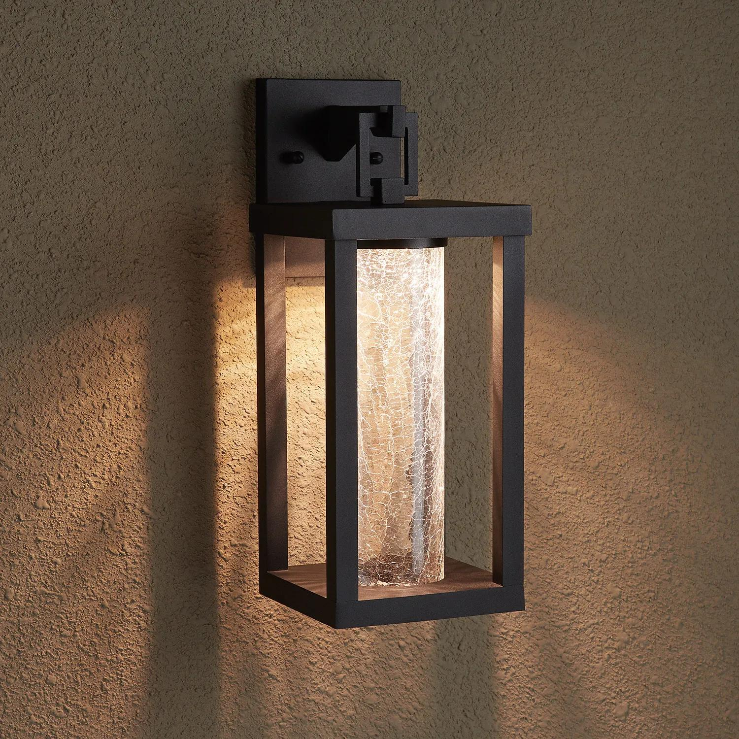 Topping Outdoor Entrance Wall Sconce - Single LED Light - Black - Outdoor Lighting - Lighting