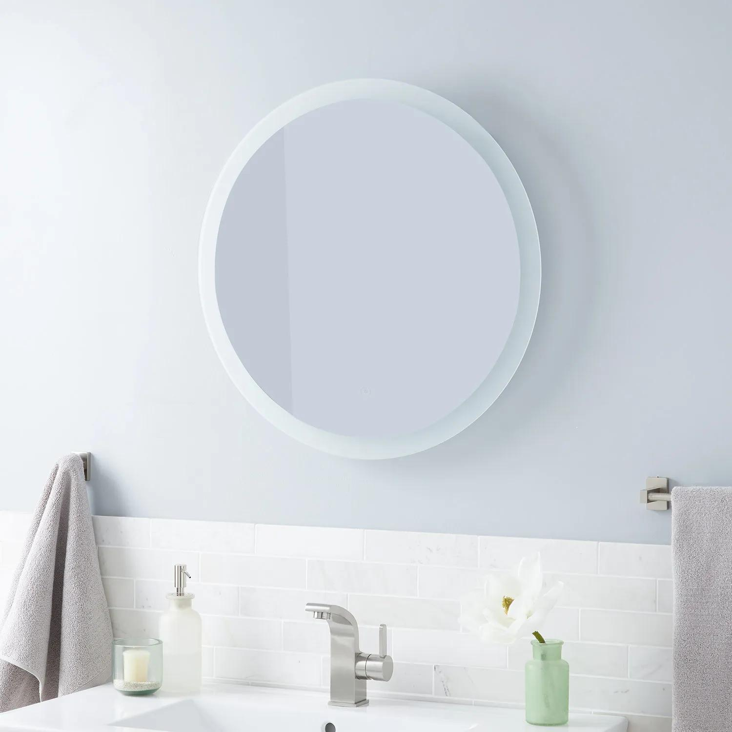 Morse Round Lighted Mirror With Tunable Led Bathroom