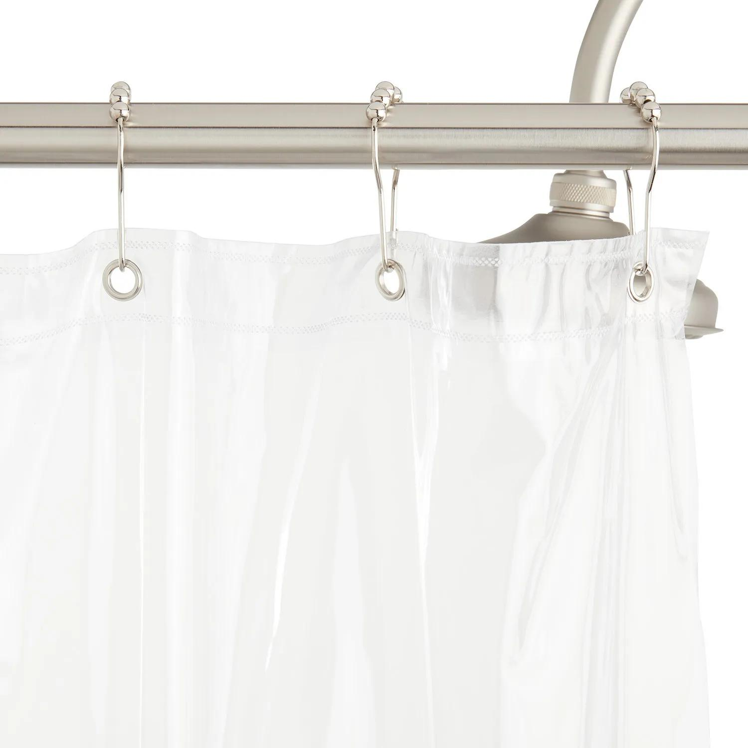 Vinyl Shower Curtain Clear Bathroom