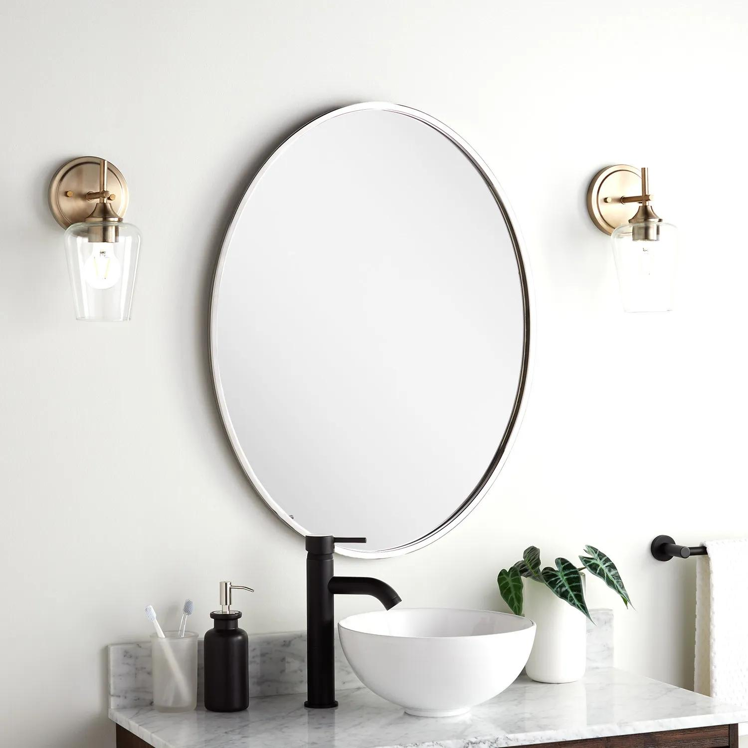 Amyr Oval Decorative Vanity Mirror Bathroom