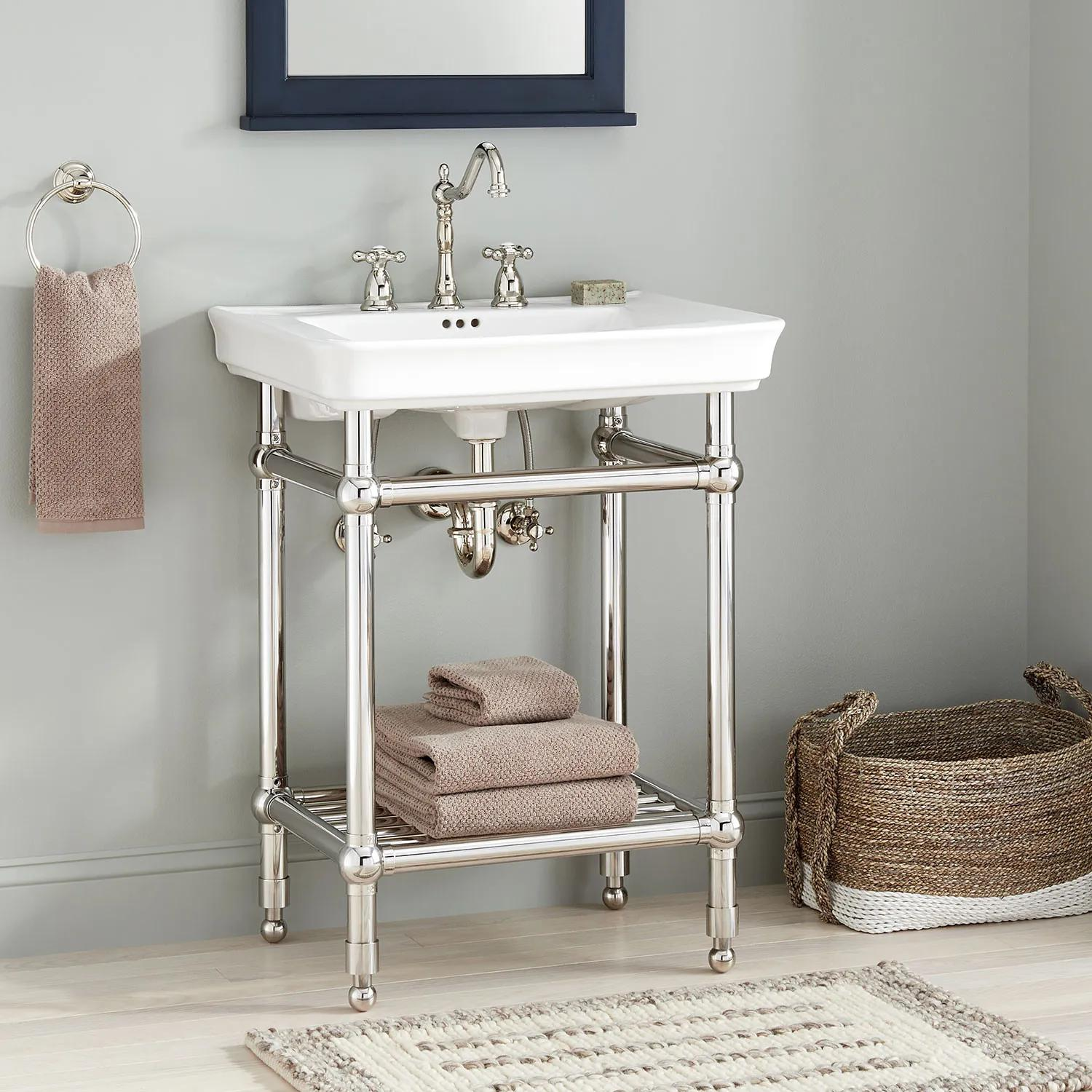 26 Eastcott Console Sink With Traditional Top Console Sinks Bathroom Sinks Sinks