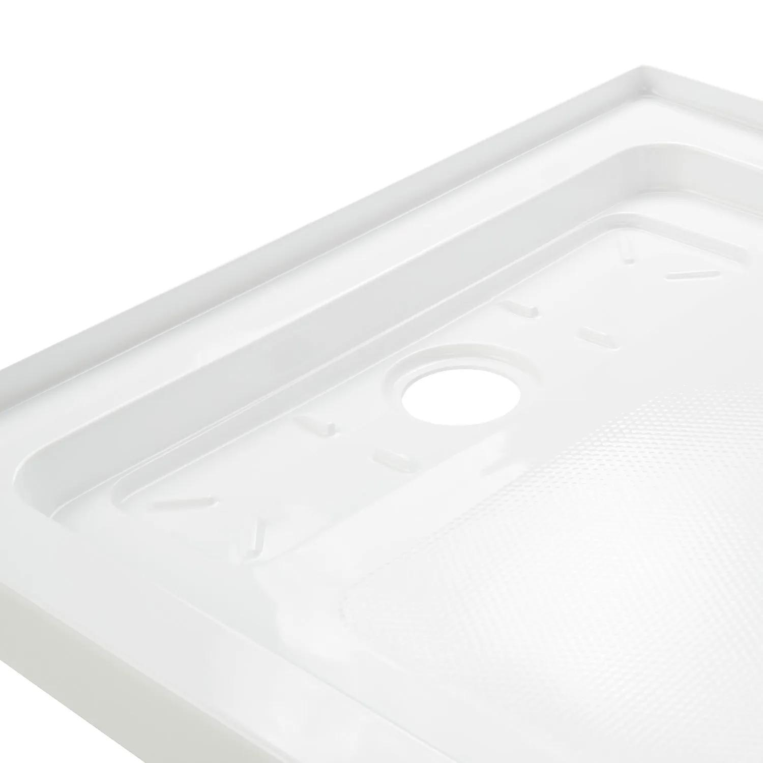 Signature Hardware 429821 Columbia 60 x 34 Alcove Shower Base with Single Threshold and Center Drain
