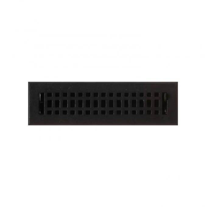 """Contemporary Cast Iron Wall Register - 2-1/4"""" x 12"""" (3-5/8"""" x 14"""" Overall)"""