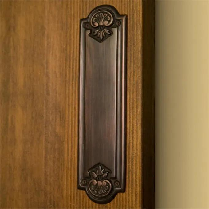 Colonial Brass Push Plate - Oil Rubbed Bronze