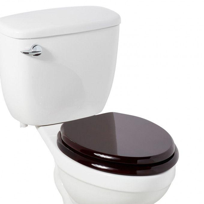 Luxury Toilet Seat With Standard Hinges - Mahogany