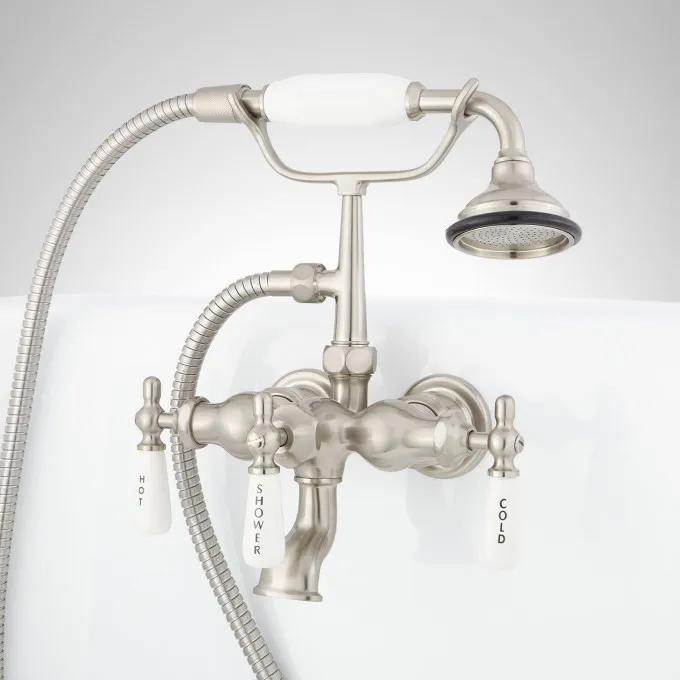 Mini Telephone Tub-Wall-Mount Faucet and Hand Shower