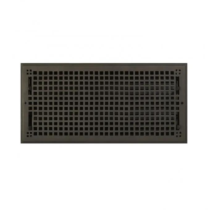 "Oversized Mission Bronze Wall Register - 9""x20"" (10-1/2""x21-5/8"" Overall)"
