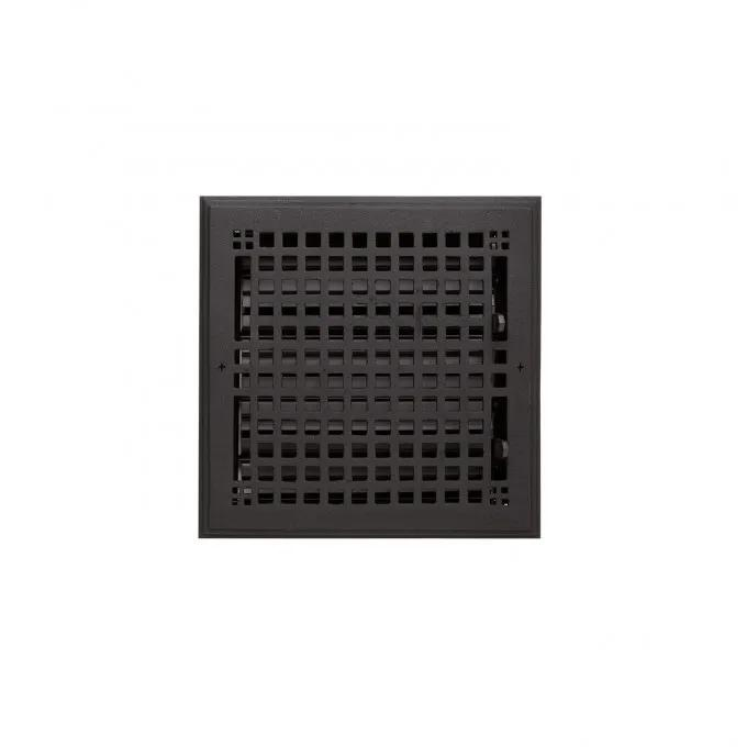 """Oversized Mission Cast Iron Wall Register - 10"""" x 10"""" (11-5/8"""" x 11-5/8"""" Overall)"""