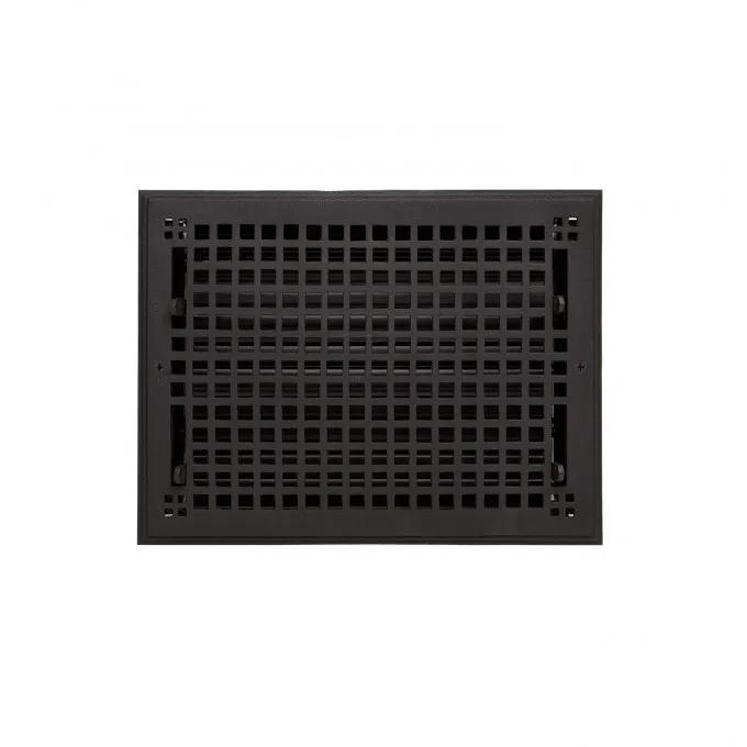 """Oversized Mission Cast Iron Wall Register - 10"""" x 14"""" (11-5/8"""" x 15-3/8"""" Overall)"""