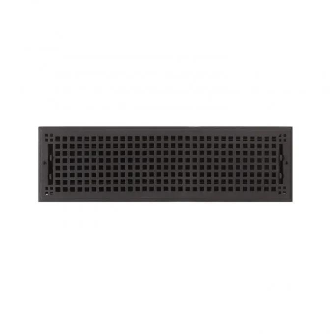 """Oversized Mission Cast Iron Wall Register - 6"""" x 22"""" (7"""" x 23-5/8"""" Overall)"""