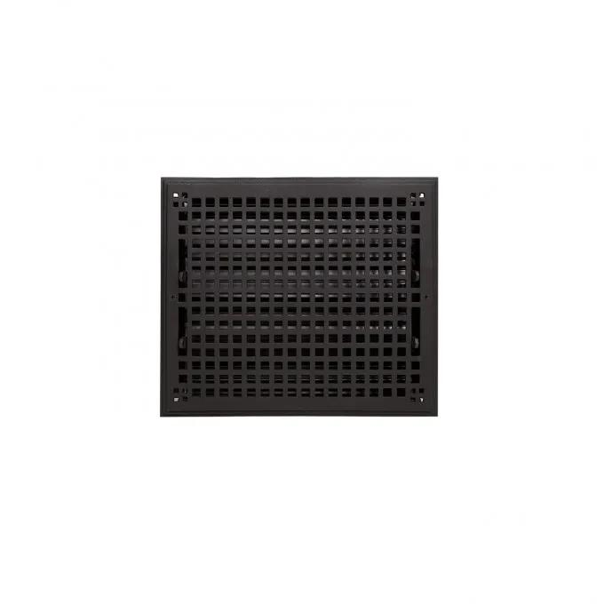 """Oversized Mission Cast Iron Wall Register - 8"""" x 10"""" (9-5/8"""" x 11-5/8"""" Overall)"""