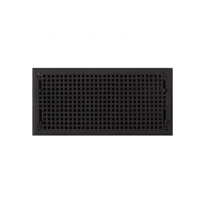 """Oversized Mission Cast Iron Wall Register - 9"""" x 20"""" (10-1/2"""" x 21-7/8"""" Overall)"""