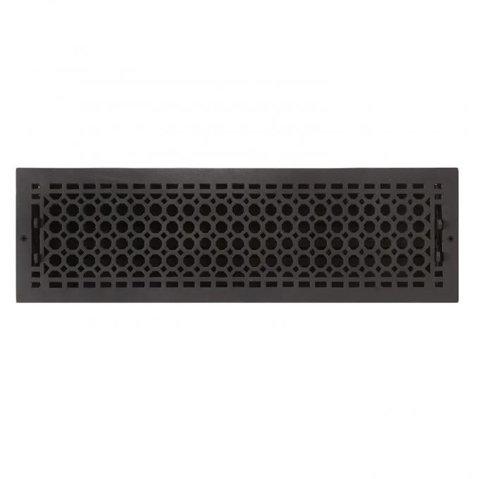 """Oversized Honeycomb Wall Register - 6"""" x 22"""" (7"""" x 23-1/2"""" Overall)"""
