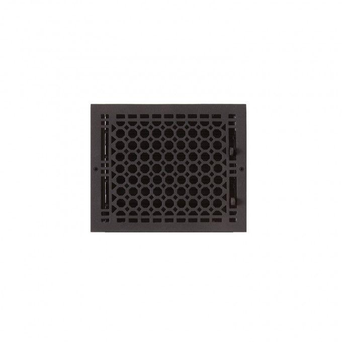 """Oversized Honeycomb Cast Iron Wall Register - 8"""" x 10"""" (9-1/4"""" x 11"""" Overall)"""