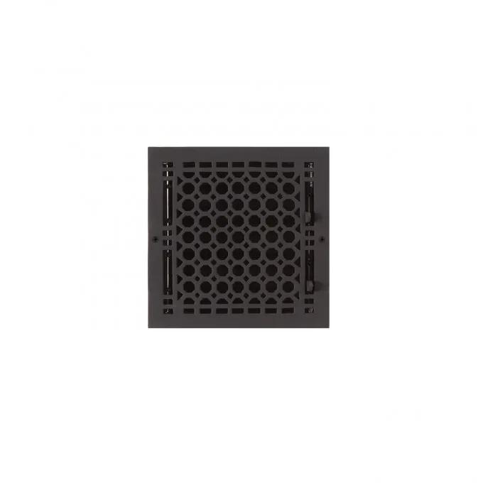 """Oversized Honeycomb Cast Iron Wall Register - 8"""" x 8"""" (9-3/8"""" x9-3/8"""" Overall)"""