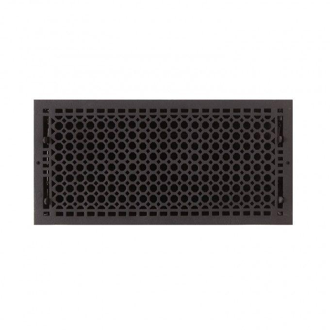 """Oversized Honeycomb Cast Iron Wall Register - 9"""" x 20"""" (10-1/4"""" x 21"""" Overall)"""