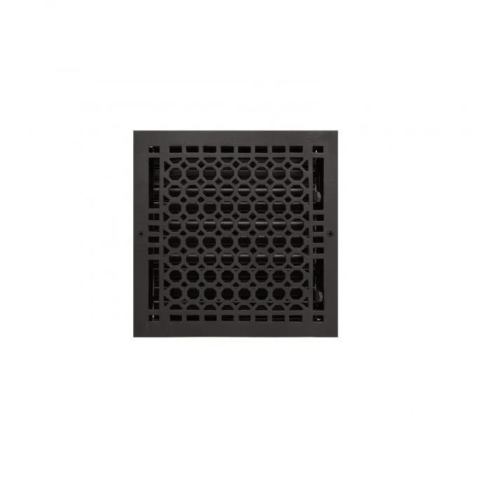 """Oversized Honeycomb Cast Iron Wall Register - 9"""" x 9"""" (10-1/4"""" x 10-1/4"""" Overall)"""
