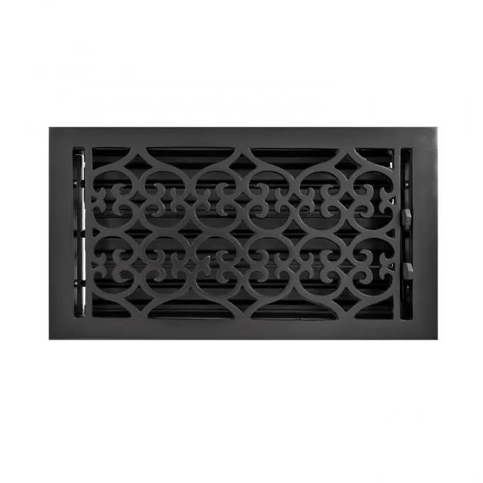 Old Victorian Cast Iron Wall Register
