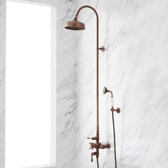 """Windham Hotel-Style Thermostatic Shower with Hand Shower - 1/2"""" IPS"""