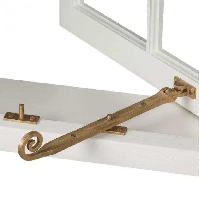 Solid Bronze Curly Casement Window Stay