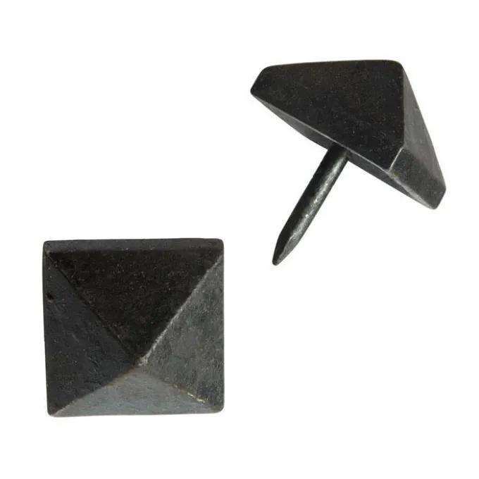 Hand-Forged Iron Square Pyramid Clavos - Set of 6