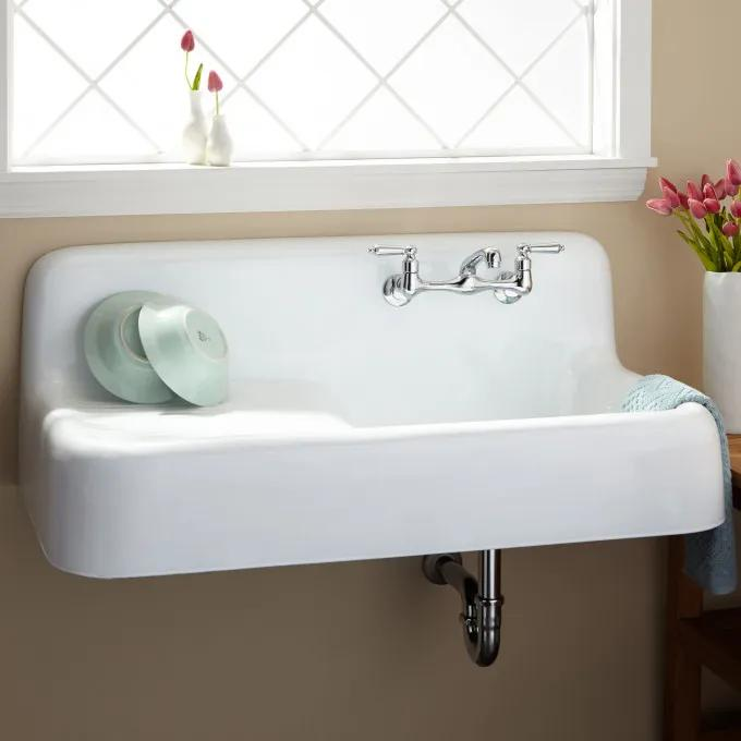 "42"" Cast Iron Wall Hung Kitchen Sink"