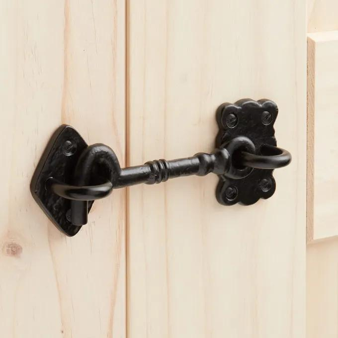 Hand-Forged Iron Cabin Door Hook Latch