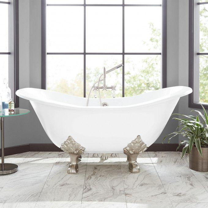 Arabella Cast Iron Double-Slipper Tub