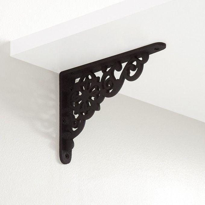 Pennsylvania Dutch Cast Iron Shelf Bracket - Black Powder Coat