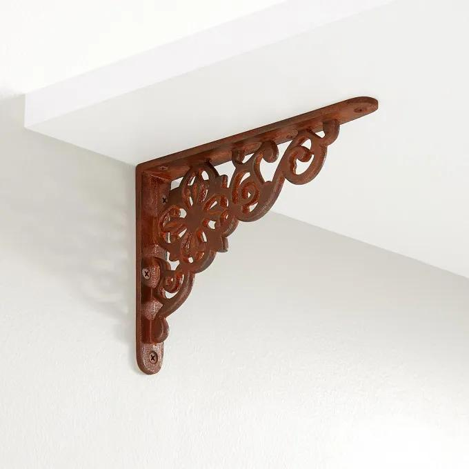 Pennsylvania Dutch Cast Iron Shelf Bracket - Rust