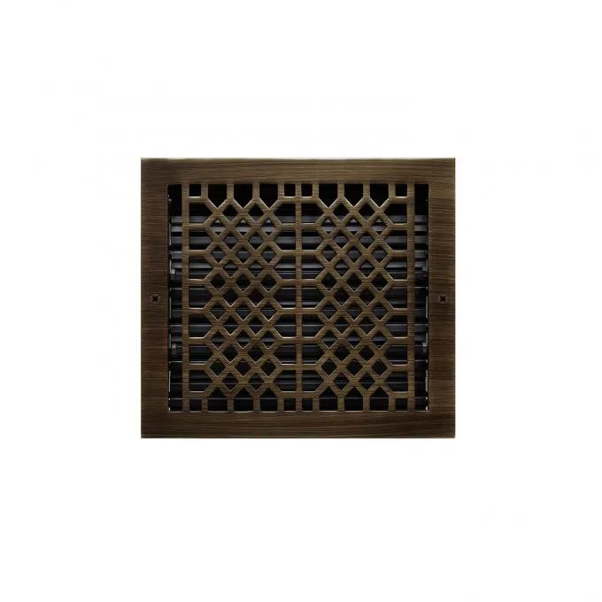 """Antique Style Wall Register - Antique Brass 10"""" x 15"""" (12"""" x 16-3/8"""" Overall)"""