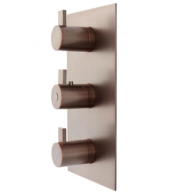 Contemporary 4-Way Thermostatic Valve - Oil Rubbed Bronze - Side