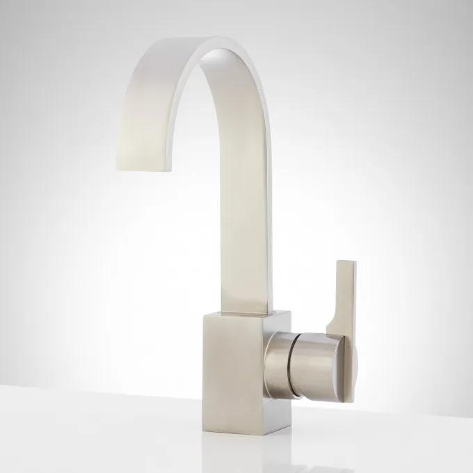 Ultra Single-Hole Bathroom Faucet with Pop-Up Drain - Brushed Nickel