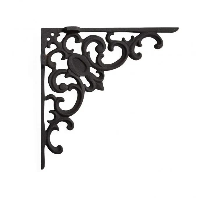 Elegant Scroll Cast Iron Shelf Bracket
