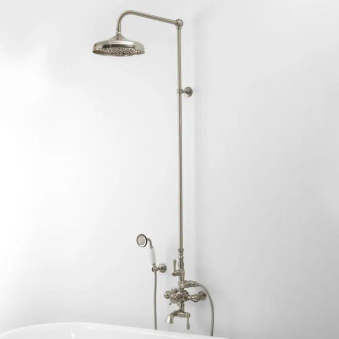 Thermostatic Exposed Pipe Tub and Shower Set - With Hand Shower
