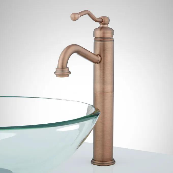 Leta Single-Hole Vessel Faucet with Pop-Up Drain