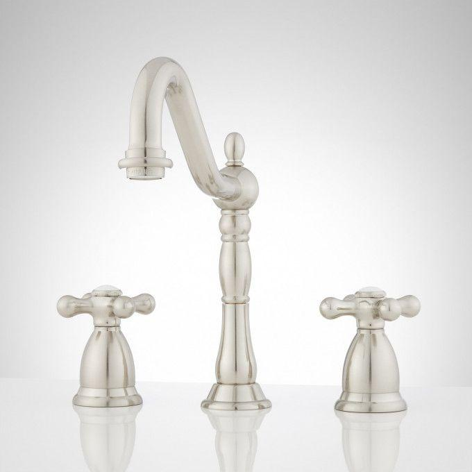 Victorian Widespread Bathroom Faucet - Cross Handles