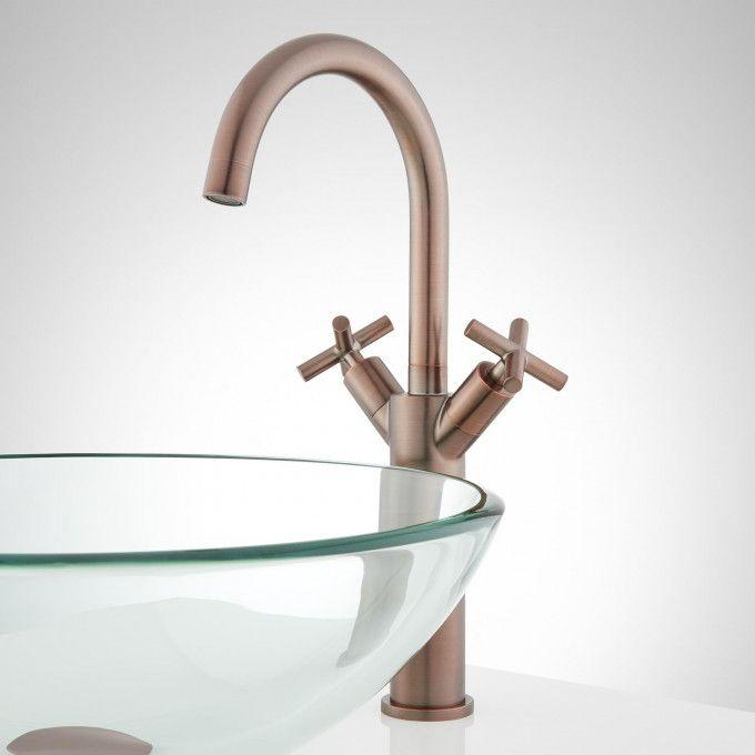 Exira Single-Hole Vessel Faucet with Pop-Up Drain - Oil Rubbed Bronze