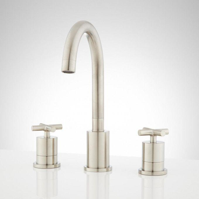 Exira Widespread Bathroom Faucet - Brushed Nickel - Front