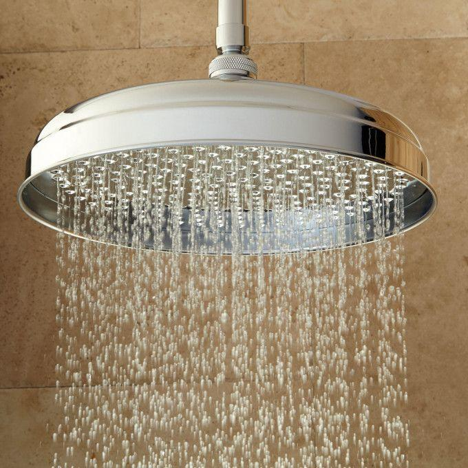 Lambert Rainfall Shower Head With Ceiling-Mount Shower Arm - Chrome