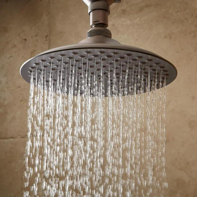 Bostonian Rainfall Shower Head with S-Type Shower Arm - Oil Rubbed Bronze