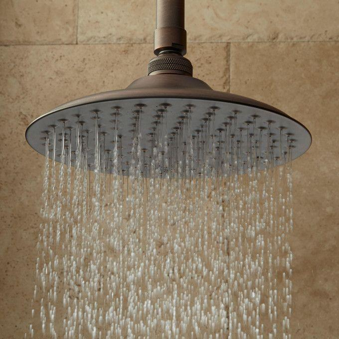 Bostonian Rainfall Shower Head with Victorian Arm - Oil Rubbed Bronze