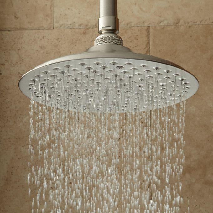 Bostonian Rainfall Shower Head with Victorian Arm - Brushed Nickel