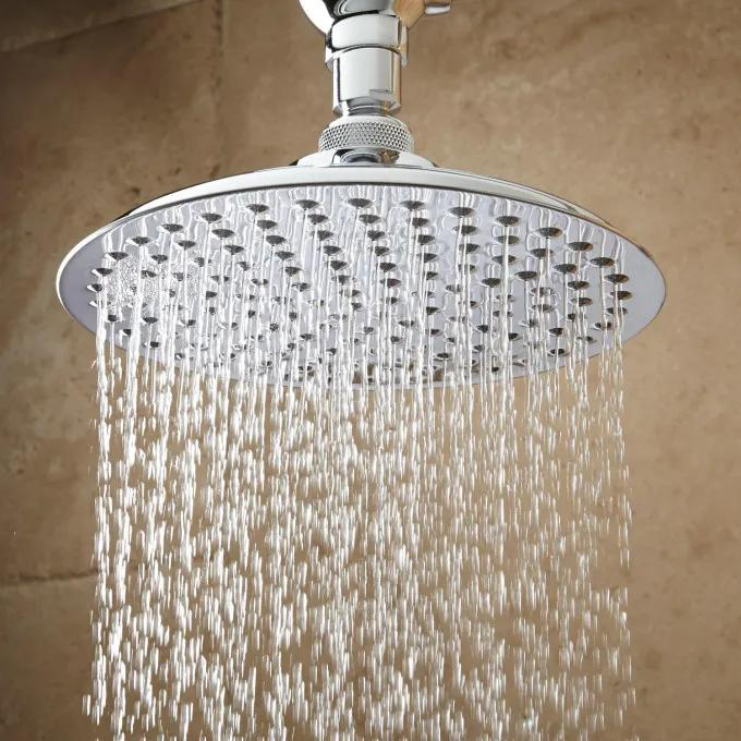Bostonian Rainfall Shower Head with S-Type Shower Arm - Chrome