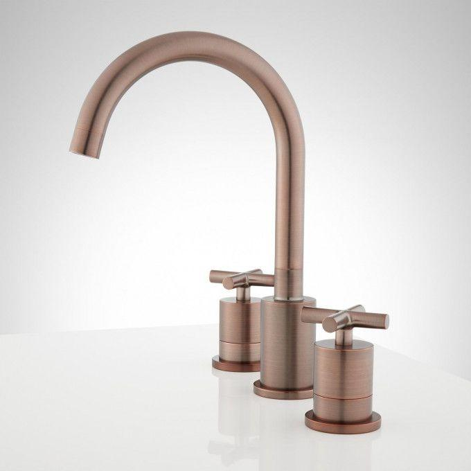 Exira Widespread Bathroom Faucet - Oil Rubbed Bronze - Side