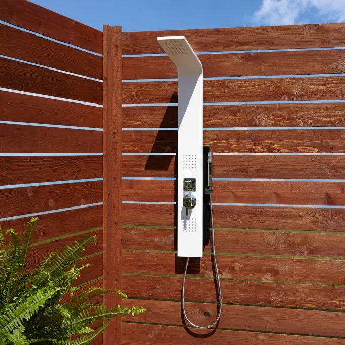 Carrollton Two-Jet Outdoor Shower Panel With Hand Shower