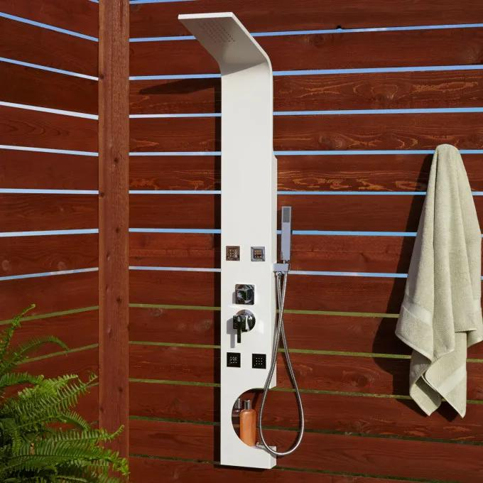 Braunfels Four-Jet Outdoor Shower Panel With Hand Shower