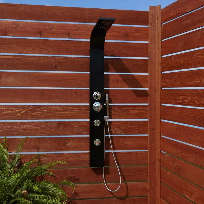 Denton Two-Jet Outdoor Shower Panel With Hand Shower